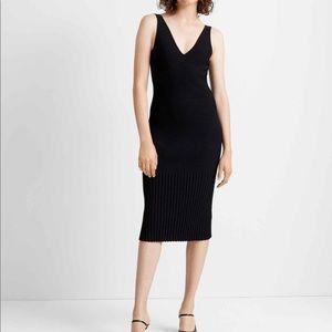 New! Club Monaco black ribbed sweater dress, small